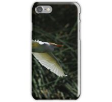 White Cattle Egret Flying iPhone Case/Skin