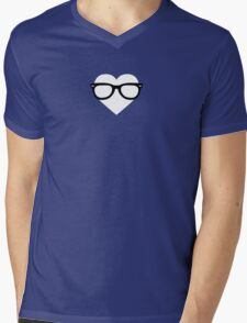 Geeky heart Mens V-Neck T-Shirt