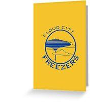 Cloud City Freezers Alternate - Star Wars Sports Teams Greeting Card
