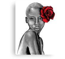 Uzuri | Red Canvas Print