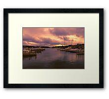 """Dawn at Charlevoix Marina"" Framed Print"