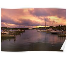 """Dawn at Charlevoix Marina"" Poster"