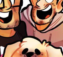 good pals (and dog) Sticker
