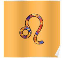 Leo Zodiac Symbol Element Poster