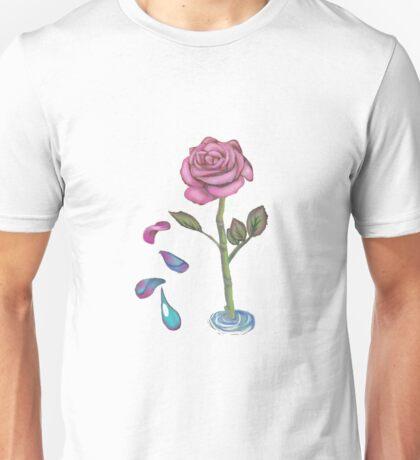 Digital Rose Drop Unisex T-Shirt