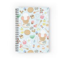 Baker Mouse - Blue Spiral Notebook