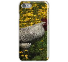 Rooster in Wildflowers iPhone Case/Skin