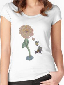Zinnia to bumble bee Women's Fitted Scoop T-Shirt