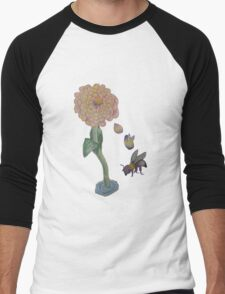 Zinnia to bumble bee Men's Baseball ¾ T-Shirt