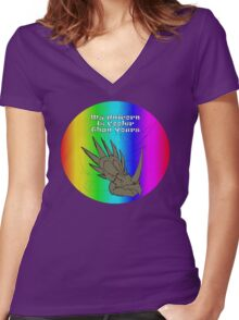 My Unicorn is Cooler Than Yours Women's Fitted V-Neck T-Shirt