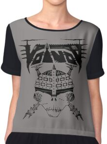 VOIVOD BLACK SKULL Chiffon Top