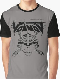 VOIVOD BLACK SKULL Graphic T-Shirt