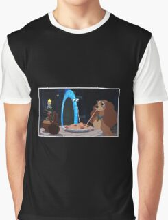 Lady and the Tramp-oline Graphic T-Shirt