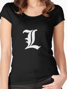 L - White Women's Fitted Scoop T-Shirt