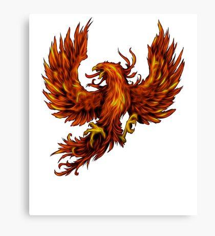 Phoenix Rising - Spirituality, Motorcyle Biker, Fire, Renewal Canvas Print