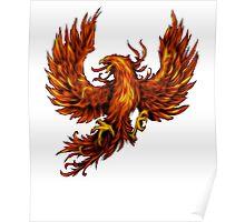 Phoenix Rising - Spirituality, Motorcyle Biker, Fire, Renewal Poster