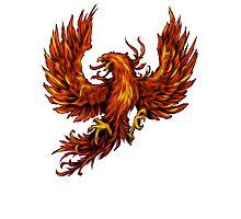Phoenix Rising - Spirituality, Motorcyle Biker, Fire, Renewal Photographic Print