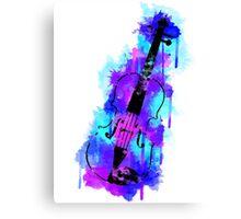 Watercolor Violin (Black Version) Canvas Print