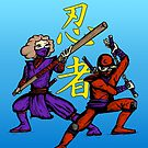 Ninjas Poster by Leif Prime