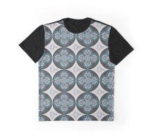 The Dark Blue Flower Graphic T-Shirt
