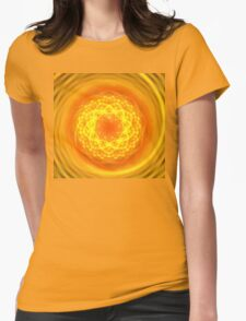 Citrus Spiral Womens Fitted T-Shirt