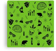 Weird Science in Green Canvas Print