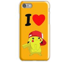 I love Pekemon iPhone Case/Skin