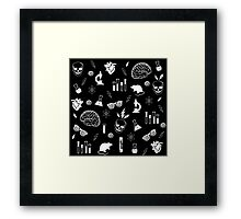 Weird Science in Black Framed Print