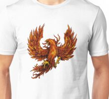 Phoenix Rising - Spirituality, Motorcyle Biker, Fire, Renewal Unisex T-Shirt