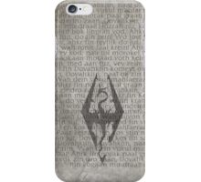 Skyrim Song of Dragonborn Scroll iPhone Case/Skin