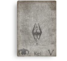 Skyrim Song of Dragonborn Scroll Canvas Print