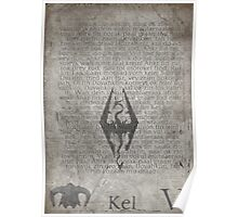 Skyrim Song of Dragonborn Scroll Poster