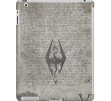 Skyrim Song of Dragonborn Scroll iPad Case/Skin