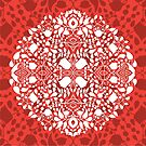 - Lace floral pattern (red) - by Losenko  Mila