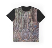 Bicycle and Tree Graphic T-Shirt