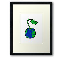 cherry earth planet water continents funny Framed Print