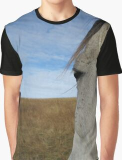 White Horse Face Graphic T-Shirt