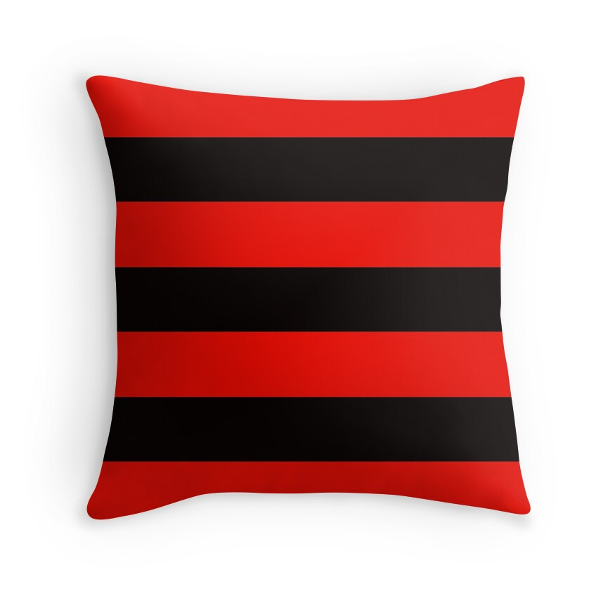 Decorative Pillows Red And Black :