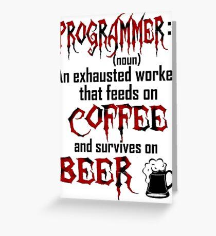 Programmer. Greeting Card