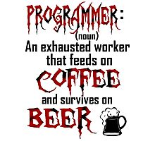 Programmer. Photographic Print