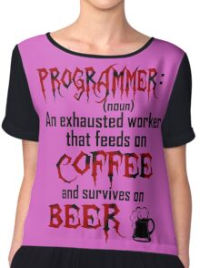 Programmer. Chiffon Top