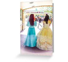 princess walks Greeting Card