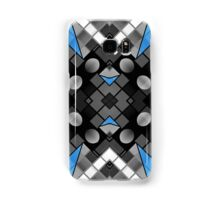 Blue Black Vector Abstract Pattern  Samsung Galaxy Case/Skin