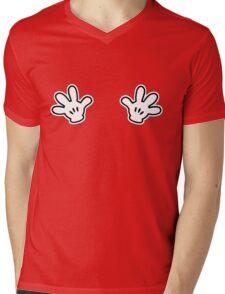 Naughty White Hands Mens V-Neck T-Shirt