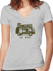 Atlanta Or Bust! Women's Fitted V-Neck T-Shirt