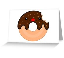 Cute Donut Greeting Card