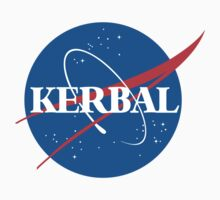 Kerbal Space Program NASA logo (large) Kids Tee