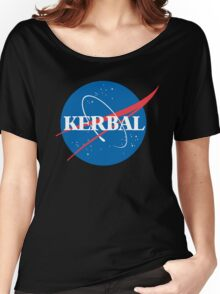 Kerbal Space Program NASA logo (large) Women's Relaxed Fit T-Shirt