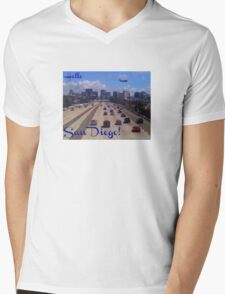Hello San Diego! Mens V-Neck T-Shirt