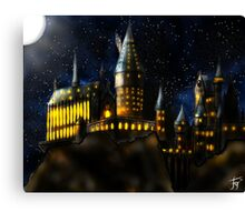 Castle by Night Canvas Print